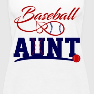 Baseball aunt Tanks - Women's Premium Tank Top