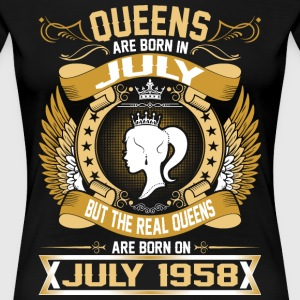 The Real Queens Are Born On July 1958 T-Shirts - Women's Premium T-Shirt