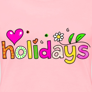 Holidays Typography - Women's Premium T-Shirt