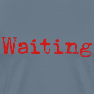Waiting... Poetry Book English - Men's Premium T-Shirt