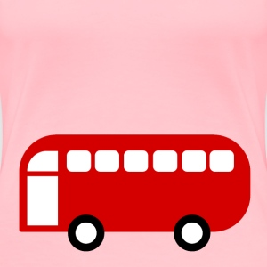 Bus or Van, simplistic and flat, with space to wri - Women's Premium T-Shirt