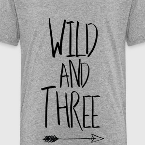 Wild and three Kids' Shirts - Kids' Premium T-Shirt