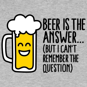 Beer is the answer but I can't remember the... T-Shirts - Men's V-Neck T-Shirt by Canvas