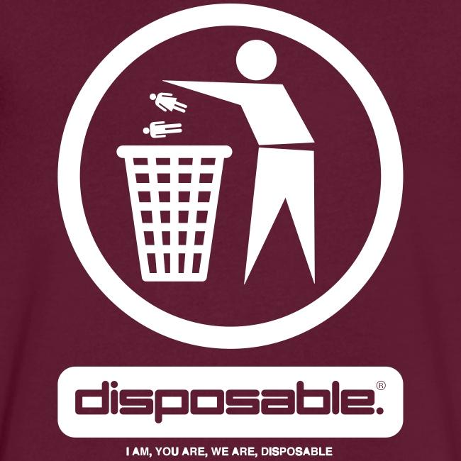 Disposable v-neck tee
