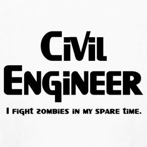 Civil Engineer Zombie Fighter Kids' Shirts - Kids' Long Sleeve T-Shirt
