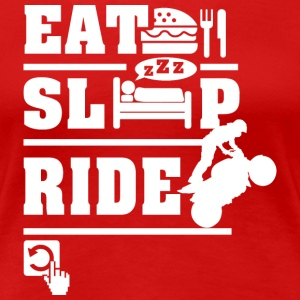 Bike Ride EatSleepRepeat T-Shirts - Women's Premium T-Shirt