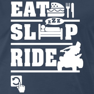 Quad Eat Sleep Repeat T-Shirts - Men's Premium T-Shirt