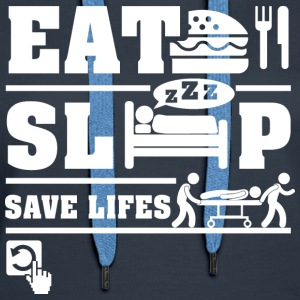 Paramedics Eat Sleep Hoodies - Women's Premium Hoodie