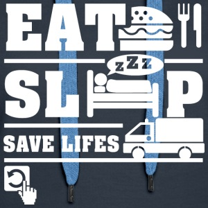 Emergency Eat Sleep Hoodies - Women's Premium Hoodie