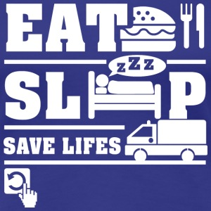 Emergency Eat Sleep T-Shirts - Women's Premium T-Shirt