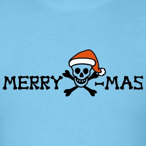 merry christmas skull multi color - Men's T-Shirt