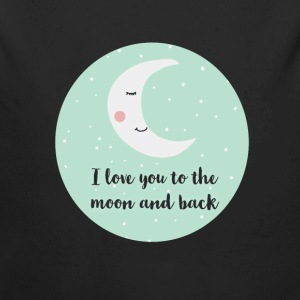 i_love_you_to_the_moon_and_back_a5 Baby Bodysuits - Long Sleeve Baby Bodysuit