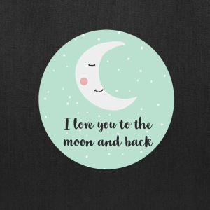 i_love_you_to_the_moon_and_back_a5 Bags & backpacks - Tote Bag