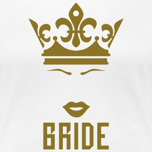 Bride Crown kissing Lips Mouth luxury Party Tee - Women's Premium T-Shirt