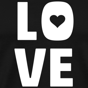 love (dh) T-Shirts - Men's Premium T-Shirt