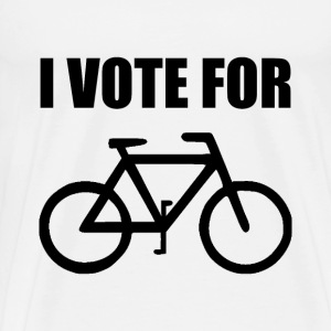I Vote For Bicycle - Men's Premium T-Shirt