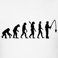 Evolution fishing T-Shirts