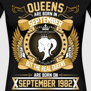 The Real Queens Are Born On September 1982 T-Shirts - Women's Premium T-Shirt