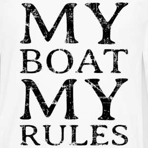 My Boat my Rules Vintage Black Long Sleeve Shirts - Men's Premium Long Sleeve T-Shirt