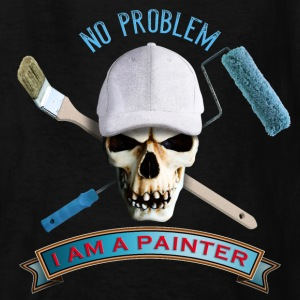 painter_skull_brush_092016_a Kids' Shirts - Kids' T-Shirt
