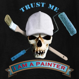 painter_skull_brush_092016_b Kids' Shirts - Kids' T-Shirt