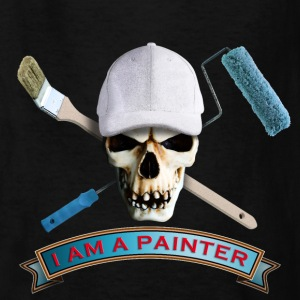 painter_skull_brush_092016_c Kids' Shirts - Kids' T-Shirt