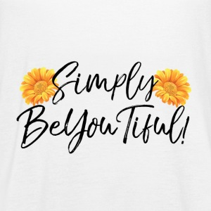 Simply BeYouTiful White Tank Top - Women's Flowy Tank Top by Bella