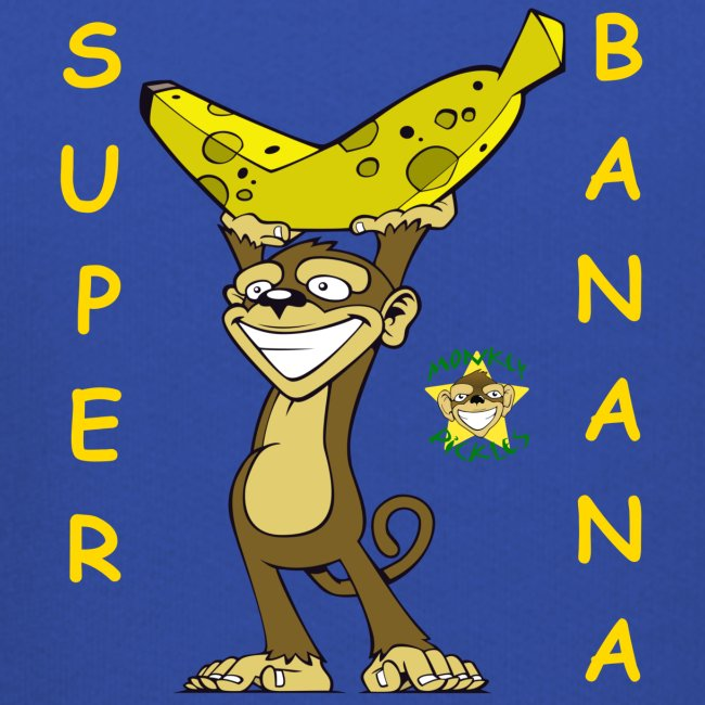Monkey Pickles Kids Hoodie - Super Banana