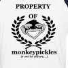 Baseball Shirt - Property of Monkey Pickles - Baseball T-Shirt