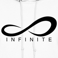 Infinite Logo in Black Women's Hoodie