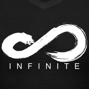 Infinite Logo in White Women's V-Neck - Women's V-Neck T-Shirt