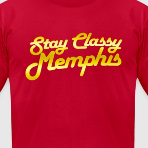 Stay Classy Memphis Gold T-Shirts - Men's T-Shirt by American Apparel