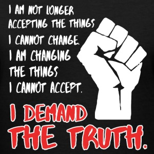 Demand The Truth #MarchForTruth Quote  T-Shirts - Women's V-Neck T-Shirt