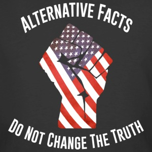 March For Truth Alternative Facts Quote  T-Shirts - Men's 50/50 T-Shirt