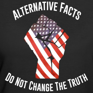 March For Truth Alternative Facts Quote  T-Shirts - Women's 50/50 T-Shirt