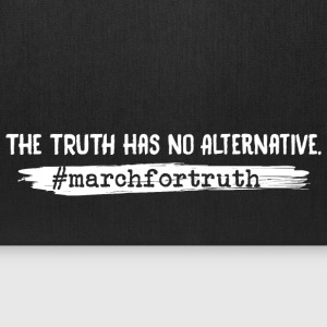 March For Truth No Alternative Quote Bags & backpacks - Tote Bag