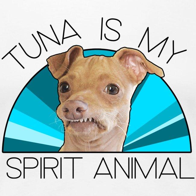 Tuna is my Spirit Animal Women's Premium Tee (blue)