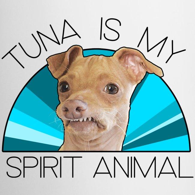 Tuna is my Spirit Animal Ceramic Mug (blue)