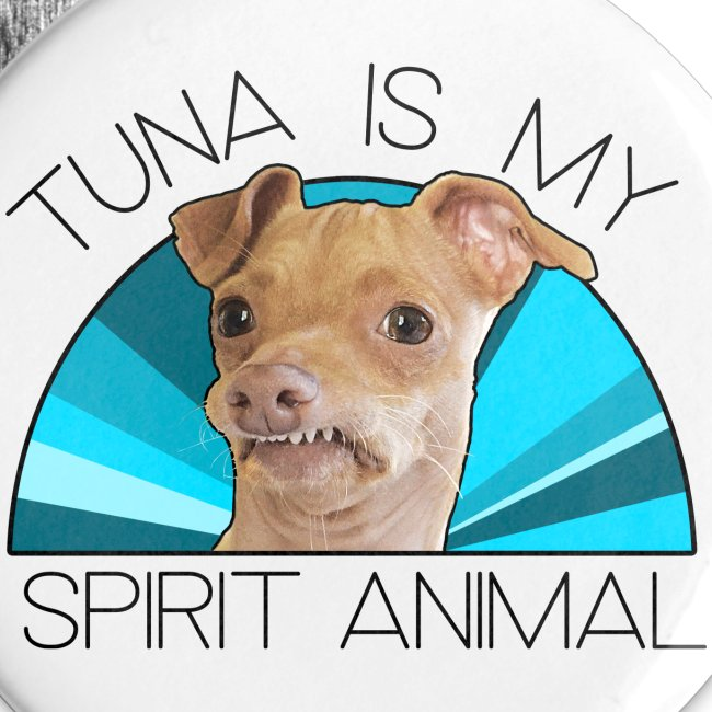 Tuna is my Spirit Animal Coasters (blue)