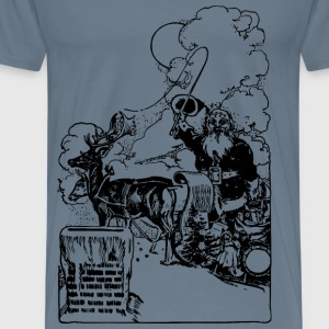 Santa Roof - Men's Premium T-Shirt