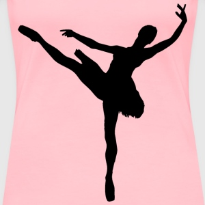 Woman And Man Ballet Silhouette Minus Man - Women's Premium T-Shirt