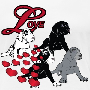 Love Great Dane Puppies - Women's Premium T-Shirt