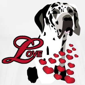 Love A Great Dane - Men's Premium T-Shirt