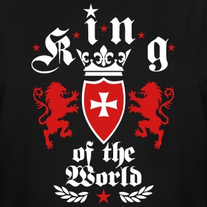 King of the World Lions Crown Cross Kings Tee - Men's Tall T-Shirt