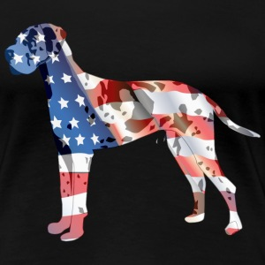 Patriotic Great Dane - Women's Premium T-Shirt