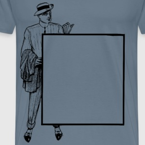 Thumbs Up Man Standing Frame - Men's Premium T-Shirt