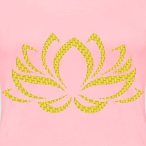 Golden Lotus Flower 3 No Background - Women's Premium T-Shirt