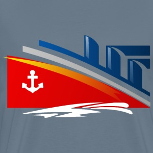 Stylized Ship - Men's Premium T-Shirt