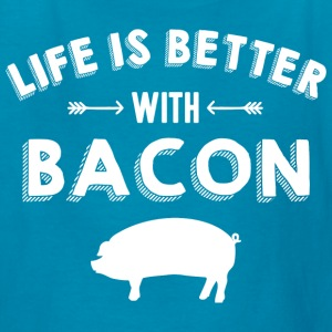 Life's Better With Bacon Kids' Shirts - Kids' T-Shirt