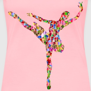 Polyprismatic Tiled Ballerina - Women's Premium T-Shirt